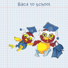Back to school, vector
