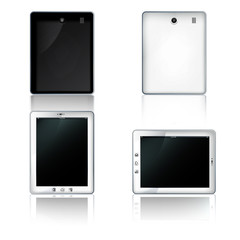 white tablet computer, vector