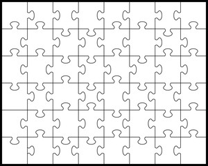 White puzzle 2, vector illustration