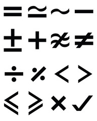 Mathematical  symbols, vector