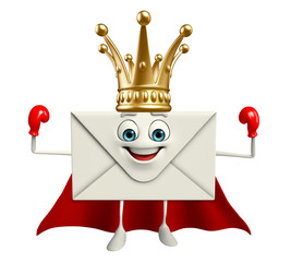 Super Mail Character with crown