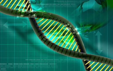 3d Dna in abstract background