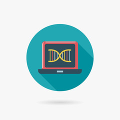 DNA Flat long shadow icon