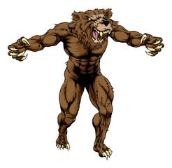 Bear scary sports mascot
