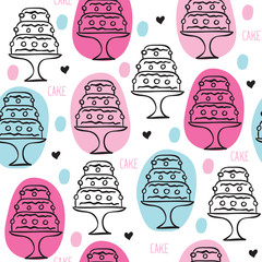 vintage cake pattern vector illustration