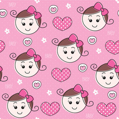 baby girl pattern vector illustration