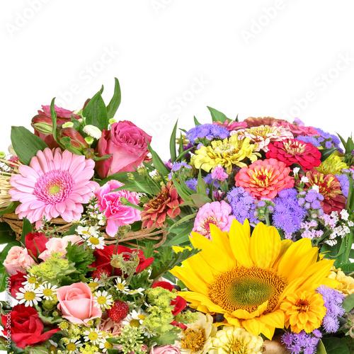 Fotobehang Zonnebloem Flower bouquets