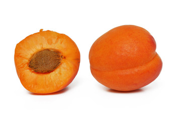 orange apricot on white
