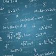 Mathematical formulas vector seamless pattern on blueprint.