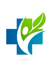 cross pharmacy body healthy logo natural medicine