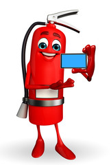 Fire Extinguisher character with mobile