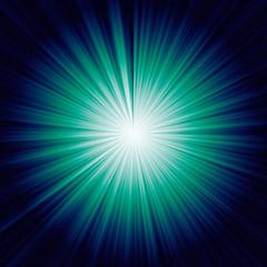 sunburst on gradient blue background