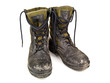 dirty military boots