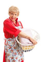 Woman Hates Laundry
