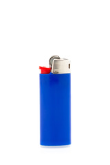 Blue lighter isolated on a white background