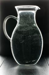 Glass tank full of water