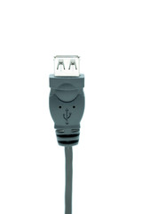 USB plugs isolated on a white background