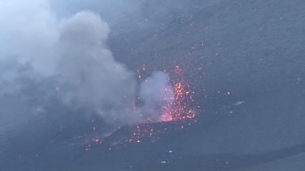 Etna lava explosion