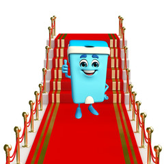 Dustbin Character on the red carpet