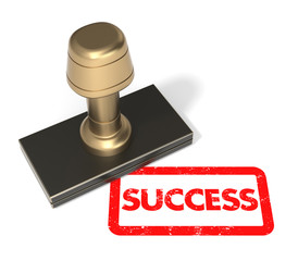 """Rubber stamp """"Success"""""""