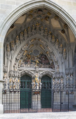 main portal of Bern cathedral