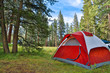 Leinwanddruck Bild - Camping