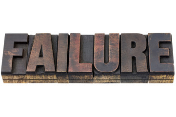 failure word in wood type