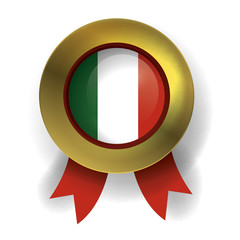 Italy Seal, Italian Flag (vector Art)