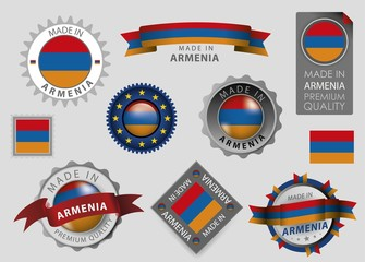 Made in Armenia Seal, Armenian Flag (vector Art)