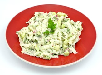 salad with rice noodles