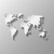 flat global map