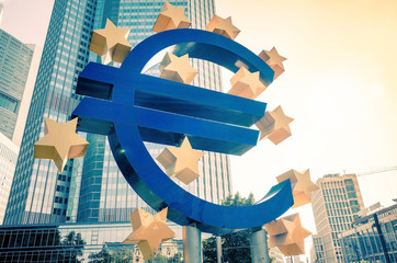 Euro Sign. European Central Bank (ECB)