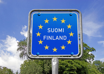 Grenzschild SUOMI FINLAND, Symbol