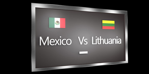 Competition Scoreboard.World Cup.Group D Mexico Lithuania