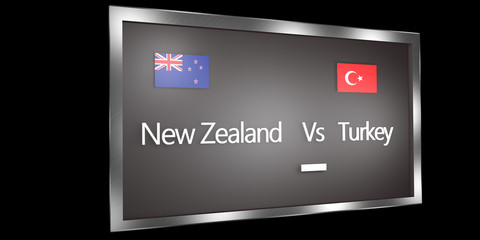 Competition Scoreboard.World Cup.Group C New Zealand Turkey