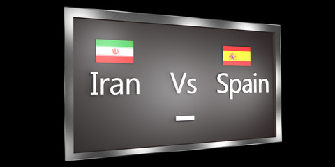 Competition Scoreboard.World Cup.Group A Iran vs Spain