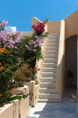 Staircase in a house on Santorini