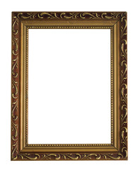 vintage frame isolated on the white background