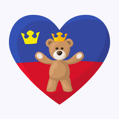 Liechtenstein Royal Teddy Bear