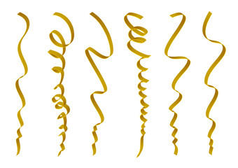 Set of gold ribbons design