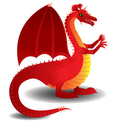 Red charging dragon