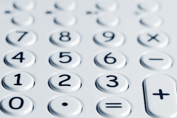 Closeup of calculator keypad