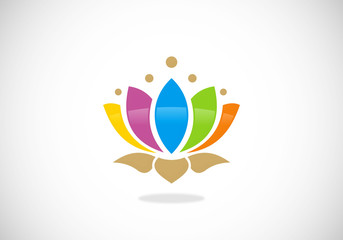 lotus-flower-color-vector-logo