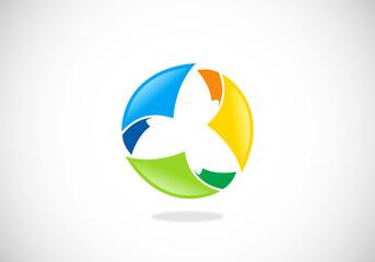 paper circle diversity vector logo