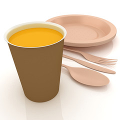 Fast-food disposable tableware