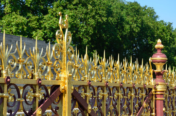 Ornate Fence at albert memorial