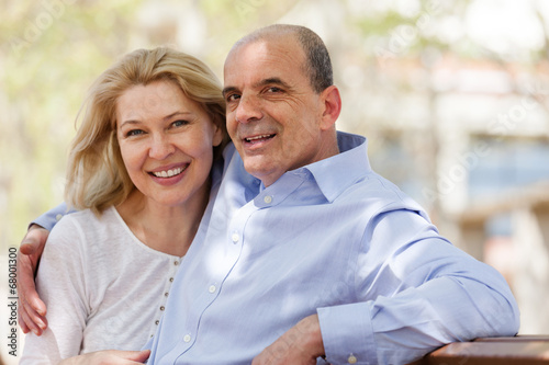 canvas print picture Happy mature couple together