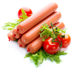 Sausage. Sausages isolated on a white background