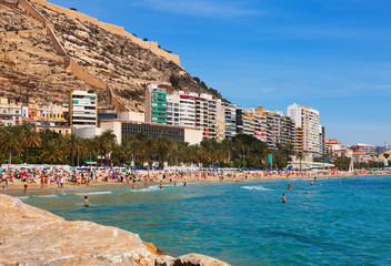 Mediterranean  beach in Alicante, Spain