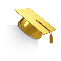Graduation cap golden